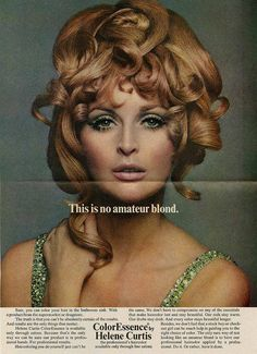 """Mad Men Mondays-May """"This is no amateur blond. Trying to locate this ad? 1960 Hairstyles, Vintage Hairstyles, Hip Hair, Samantha Jones, Beauty Ad, Fashion Photo, Fashion Models, Mad Men, Vintage Beauty"""