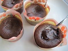 Flourless Chocolate Lava Cakes  Little pots of satiny molten chocolate are the ultimate chocolate fix in under 30 minutes.