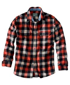 Men's Original Buffalo Check Wool Shirt