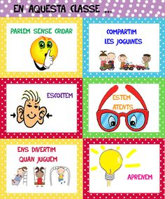 Videos and photos of the activities carried out in kindergarten at the Sant Andreu school in Badalona. Posted by Teresa Estruch i Traité - Einrichtungsstil Classroom Organisation, Classroom Rules, Catalan Language, Creative Video, Spanish Teacher, School Teacher, In Kindergarten, More Fun, Dangles