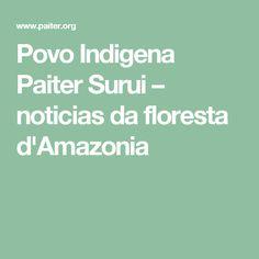 Povo Indigena Paiter Surui – noticias da floresta d'Amazonia