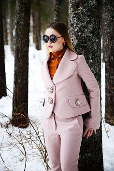 Swiss blogger Kayture for Louis Vuitton love the suit