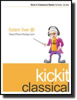 Free e-book full of fun activities designed to guide children while listening to classical music.