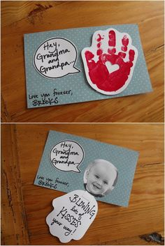 Blowing Lots of Kiss Handprint Valentine's Day Card