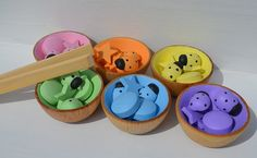 Items similar to Montessori Inspired Sorting Bowls Wooden Pastel Rainbow Sensory Toy on Etsy Montessori Color, Aba, Sorting, Cool Kids, Classroom Ideas, Boxes, Pastel, Rainbow, Patterns