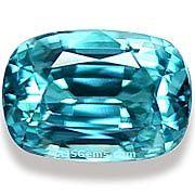 Blue Zircon - 8.21 carats at AJS Gems