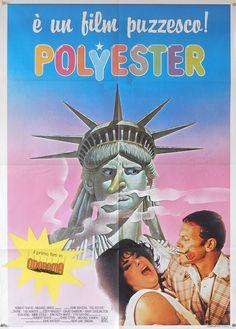 John Waters' Polyester with Divine and Tab Hunter, Italian poster, 1982 Stiv Bators, Tab Hunter, Mink Stole, Italian Posters, John Waters, Film Music Books, Satire, Mobile Wallpaper, Carnival