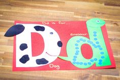 Preschool Letter of the Week D craft dog dinosaur