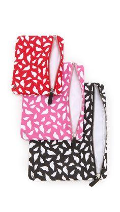 @dvf lip print makeup bags