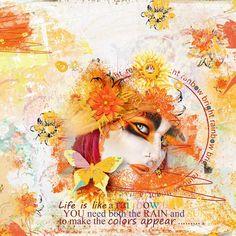 "Kit ""Rainbow Bright"" by Sekada Designs https://www.digitalscrapbookingstudio.com/sekada-designs/ Photo by Rebeca Saray - deviantart"