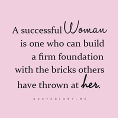 A successful woman...