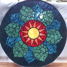 version of the eastern symbol for the heart chakra. Heart Chakra mosaic table in ceramic tiles by Brett Campbell Mosaics Mosaic Diy, Mosaic Garden, Mosaic Crafts, Mosaic Projects, Mosaic Wall, Mosaic Glass, Glass Art, Pebble Mosaic, Mosaic Ideas