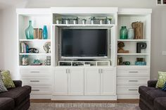 They built this DIY Entertainment Center. Amazing!