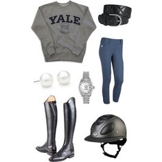 Riding ootd doesn't have to say Yale I just like it all together