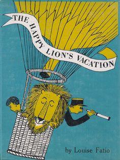 "Louise Fatio & Roger Duvoisin ""The Happy Lion's Vacation' Illustration 1967"
