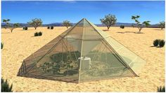 Desert greenhouse could help grow crops in driest places on Earth — and beyond – by capturing morning dew. During the day, the greenhouse keeps the hot air trapped inside, causing it to remain humid. (Roots-Up) Agriculture, Greenhouse Growing, Water Collection, Growing Veggies, Growing Plants, Innovation, Deserts, Survival, Backyard