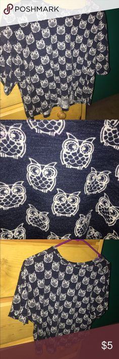 owl shirt super cute owl shirt from aeropostale! it can be dressy or casual. goes with almost anything. Aeropostale Tops Tees - Short Sleeve