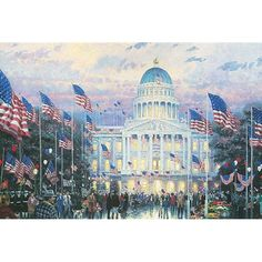 """Flags Over the Capitol"" by Thomas Kinkade"