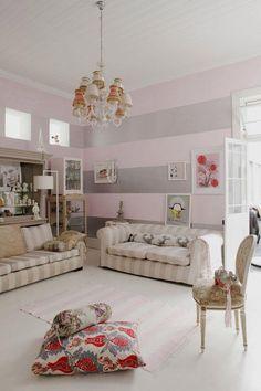 baby rosa silbern horizontale streifen