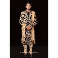 """Create your own style let it be unique for yourself and identifiable for others.""  Rent this dazzling blue velvet self-designed with golden thread sherwani for your next event only at www.rentanattire.com or head to our store located at Warje Pune.  Call us at 7722009477 for appointments.  #raa #rentanattire #sustainablefashion #makeinindia #fashiononrent #designerwear #rental #buylessrentmore #rentingisanewtrend #whybuywhenyoucanrent #weddingwear #weddingfashion #indianweddings… Lehenga Gown, Bridal Lehenga, Maroon Suit, Glamorous Outfits, Sherwani, Indian Models, Wedding Wear, Pune, Blue Velvet"