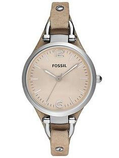 Tan Fossil Watch