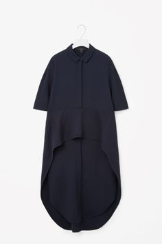 COS image 2 of Layered skirt shirt dress in Navy