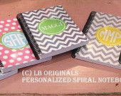 Personalized Binders by preppypapergirl on Etsy
