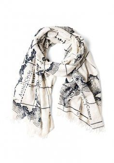 Oh my goodness, I love this! - LB (Designer Map Scarf - Retro Vintage Scarves Scarf)