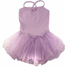 Lavender Spaghetti Strap Tutu Dress ($28) ❤ liked on Polyvore featuring dresses and purple dress
