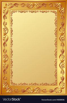 Background vector image on VectorStock Golden Background, Frame Background, Textured Background, Frame Border Design, Page Borders Design, Vintage Frames, Certificate Background, Certificate Design Template, Art Deco Cards