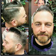 Fresh new cut with a beard