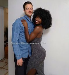 get you a thick melanin goddess like this lass Black And White Couples, Black Woman White Man, Black And White Love, Black Girls, Interacial Love, Interacial Couples, Interracial Family, Interracial Marriage, Beaux Couples