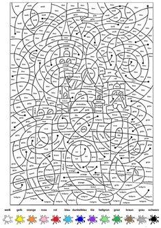 malen nach zahlen - multiplizieren und dividieren - matheaufgaben für die 2. klasse mathematik