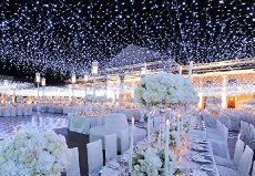 Tesoar Wedding Party Lights Christmas Gazebo Backdrop 9.8 x 9._.8Ft (3M x 3M) Pure White 300 LED Fairy Garden Curtain String Lights Decoration for Christmas Wedding Church Party 110V