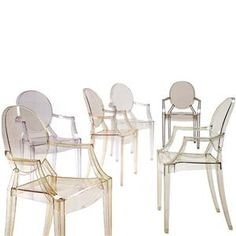 I love these 'ghost chairs' I like the idea of having them in a tight space in oprder to creat the illusion of having more space. Also wqiped upo friendly for the kids.