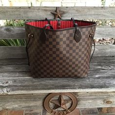 337ada4408b6 Details about AUTHENTIC Louis Vuitton Damier Ebene Neverfull MM. Preloved
