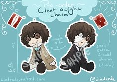 [PRE-ORDER] Bungo Stray Dogs Osamu Dazai 3' Acrylic charms via Lied in B minor. Click on the image to see more!