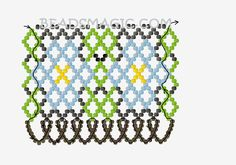 Free pattern for beaded necklace Chamomile
