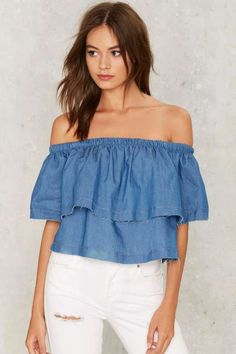 A Fray to Remember Denim Top
