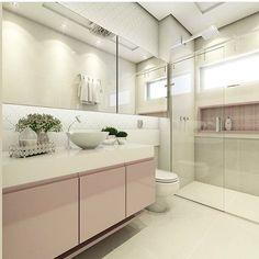 Banheiro delicado por Carol Cantelli @decoreinteriores