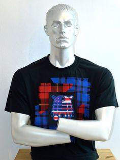 Yankee Doodle Dalek  Dalek T-shirt  Dr Who  Stars by MoNkARoCkS