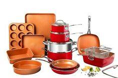 Gotham Steel 20 Piece Nonstick Cookware & Bakeware Set - 3 Colors | eBay