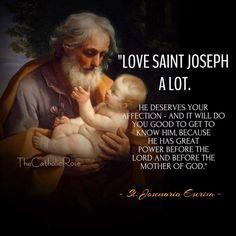 """St. Josemaria Escriva - """"Love Saint Joseph a lot."""" (via Brenda Smith)"""