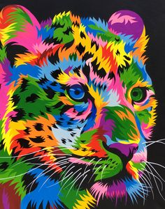 Animal art - 40 Easy Abstract Animals Painting Ideas which will Leave you Amazed – Animal art Colorful Animal Paintings, Abstract Animals, Colorful Animals, Animal Drawings, Art Drawings, Lion Painting, Human Painting, Painting Abstract, Tiger Art