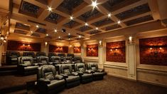 Home Cinema Room, At Home Movie Theater, Home Theater Rooms, Home Theater Design, Dream Theater, Dream House Movie, My Dream Home, Dream House Interior, Home Movies