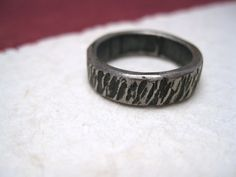 Tree Bark iron ring   Italy Handmade by daganigioielli on Etsy, $28.33