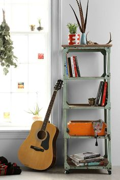 Factory Rolling Bookcase #urbanoutfitters