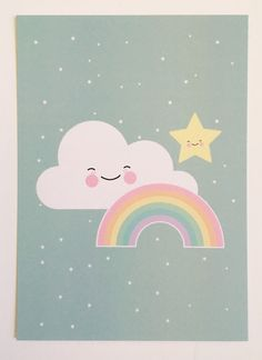 A superlative illustration on this poster. Fits perfectly into the baby room. Alphabet Poster, Image Deco, Baby Posters, Baby Art, Unicorn Party, Cute Illustration, Nursery Art, Cute Drawings, Cute Wallpapers