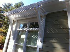 Pergola window awning