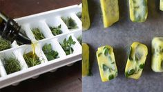 Freeze Fresh Herbs in Oil to Preserve Them | Grocery Eats